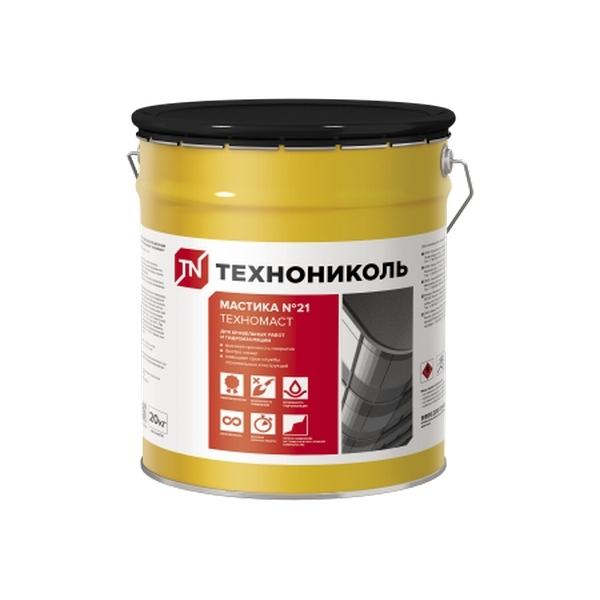 Мастика кровельная ТЕХНОНИКОЛЬ №21 Техномаст ведро 20 кг.