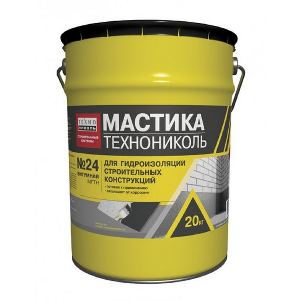 Мастика гидроизоляционная ТЕХНОНИКОЛЬ №24 МГТН ведро 20 кг. 24 ведра