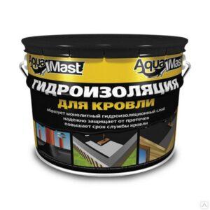 Мастика битумно-резиновая AquaMast, ведро 3 кг.