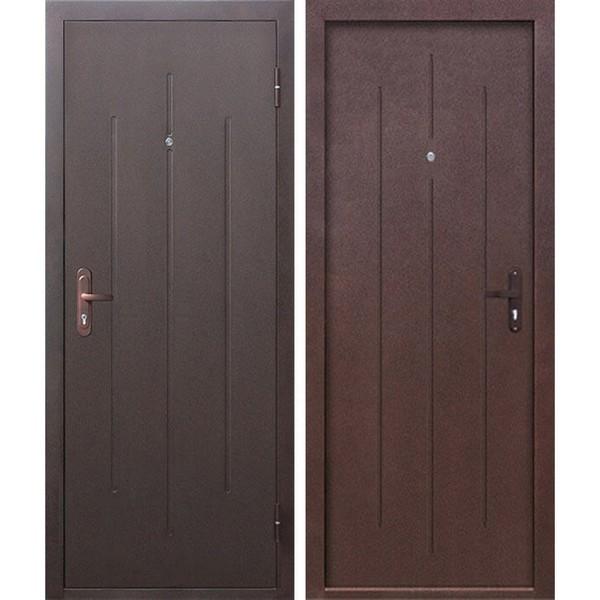 Дверь металлическая входная Стройгост 7-1 Металл/Металл 3 петли 1200х2050х65 мм.