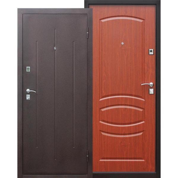 Дверь металлическая входная Стройгост 7-2 Итальянский орех 860(960)x2050х70 мм.