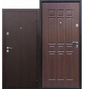 Дверь металлическая входная Сопрано Дуб Шоколадный 860(960)x2050х68 мм.