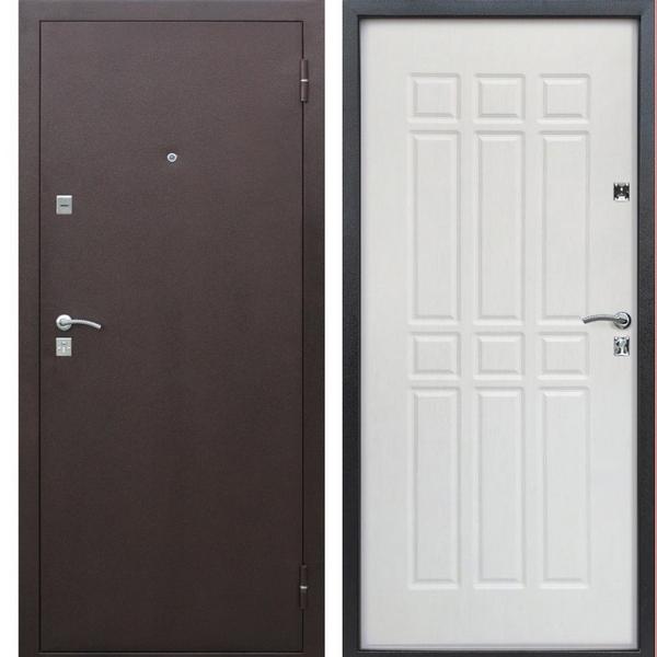Дверь металлическая входная Сопрано Дуб Молочный 860(960)x2050х68 мм.