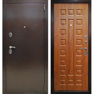 Дверь металлическая входная Йошкар Золотистый дуб 860(960)x2050х68 мм.
