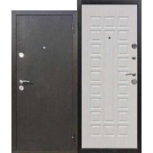 Дверь металлическая входная Йошкар Беленый дуб 860(960)x2050х68 мм.