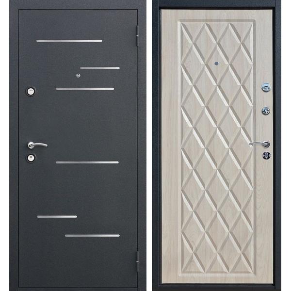 Дверь металлическая входная Leonardo 3K Беленый дуб 860(960)x2050х90 мм.