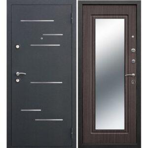 Дверь металлическая входная Версаль Зеркало 3K Венге 860(960)x2050х90 мм.