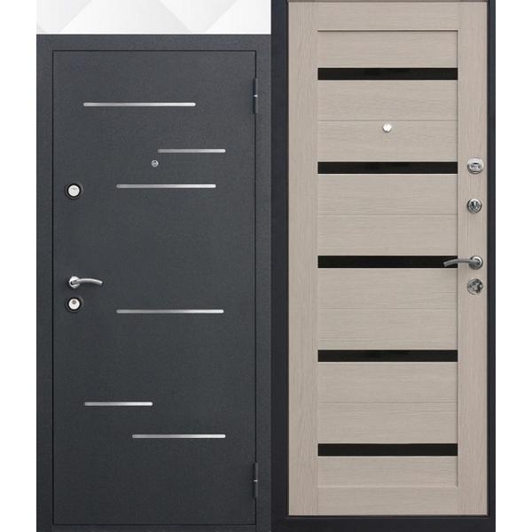 Дверь металлическая входная Филадельфия 3K Царга Лиственница мокко 860(960)x2050х90 мм.