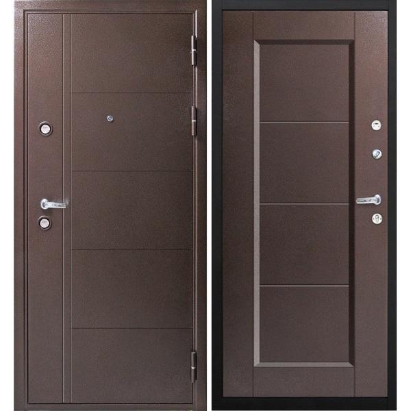 Дверь металлическая входная Феррум Антик металл/металл 860(960)x2050х100 мм.