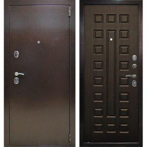 Дверь металлическая входная Йошкар Венге 1200(1300)x2050 х68 мм.