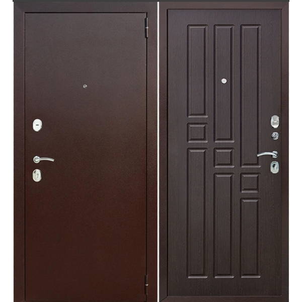 Дверь металлическая входная Гарда Венге 860(960)x2050х60 мм.