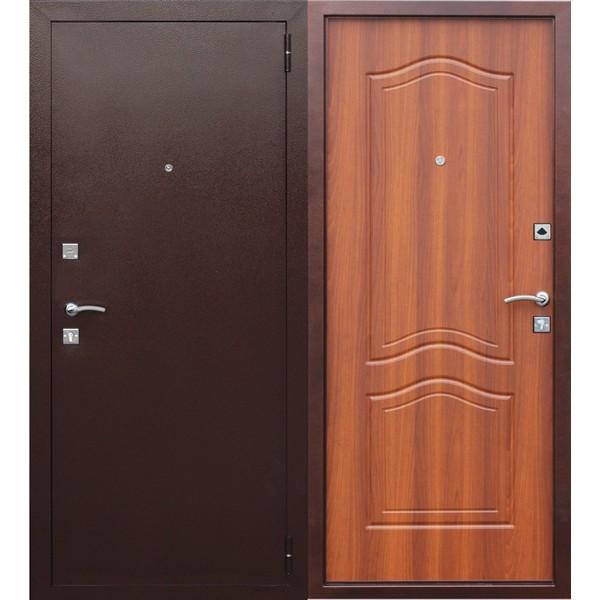 Дверь металлическая входная Гарда Рустикальный дуб 860(960)x2050х60 мм.
