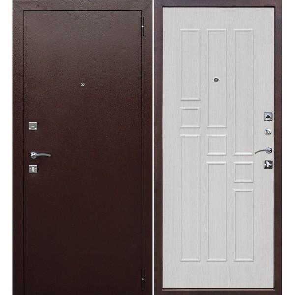 Дверь металлическая входная Гарда Белый ясень 860(960)x2050х60 мм.