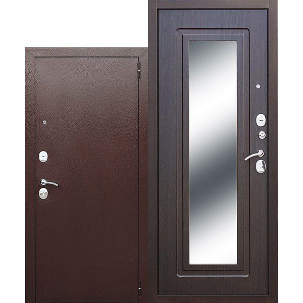 Дверь металлическая входная Царское зеркало Венге 860(960)x2050х60 мм.
