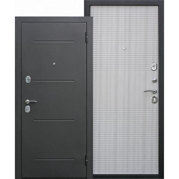 Дверь металлическая входная Гарда муар Белый ясень 860(960)x2050х75 мм.