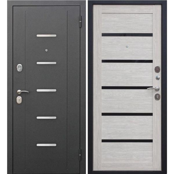 Дверь металлическая входная Гарда муар Лиственница мокко Царга 860(960)x2050х75 мм.