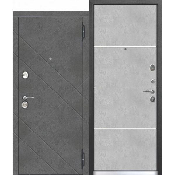 Дверь металлическая входная БРУКЛИН Бетон пепельный 860(960)x2050х90 мм.