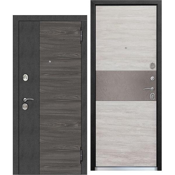 Дверь металлическая входная ОРЛАНДО Дуб винтаж белый 860(960)x2050х95 мм.