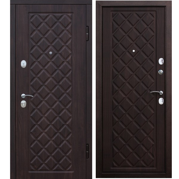 Дверь металлическая входная KAMELOT Vinorit Вишня темная 860(960)x2050х95 мм.