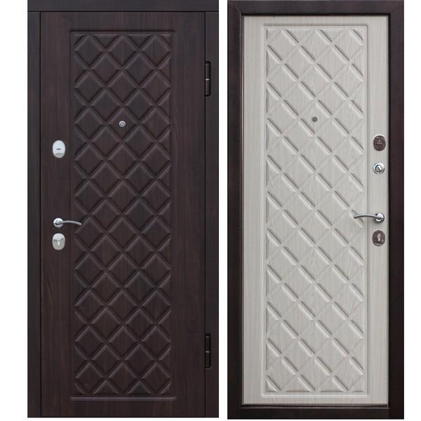 Дверь металлическая входная KAMELOT Vinorit Беленый дуб 860(960)x2050х95 мм.