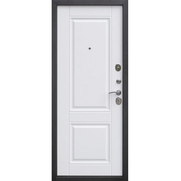 Дверь металлическая входная ВЕНА Vinorit Патина мдф/мдф Белый матовый 860(960)x2050х95 мм.