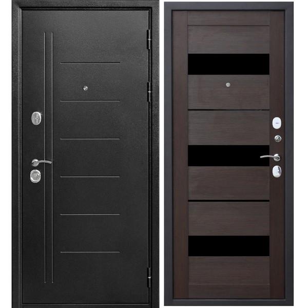 Дверь металлическая входная Троя Серебро Темный кипарис Царга 860(960)x2050х100 мм.