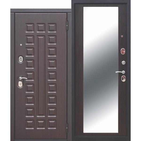 Дверь металлическая входная МОНАРХ Зеркало Венге 860(960)x2050х100 мм.