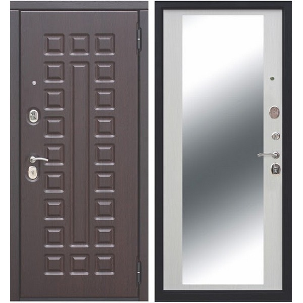 Дверь металлическая входная МОНАРХ Белый ясень 860(960)x2050х100 мм.