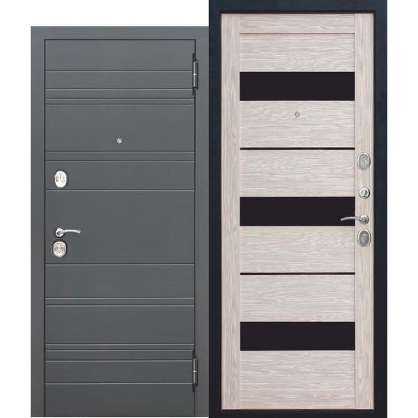Дверь металлическая входная ЧАРЛСТОН Царга Глянец мокко 860(960)x2050х105 мм.