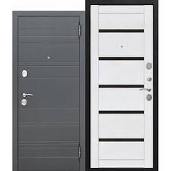 Дверь металлическая входная ЧАРЛСТОН Царга Белый глянец 860(960)x2050х105 мм.