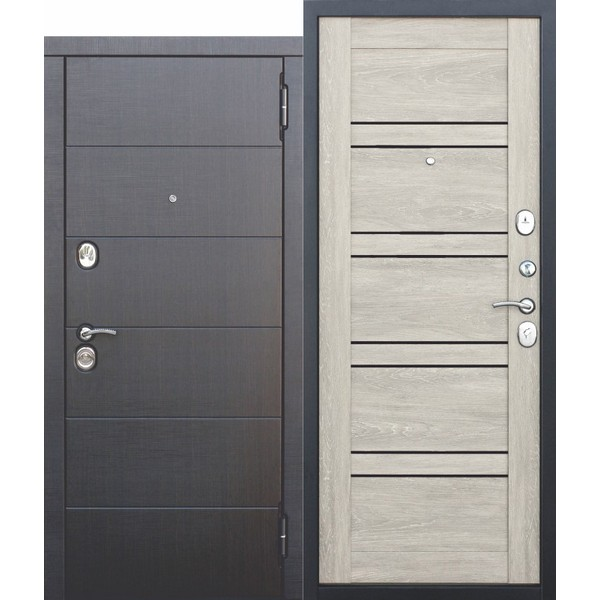 Дверь металлическая входная ЧИКАГО Дуб шале белый 860(960)x2050х105 мм.