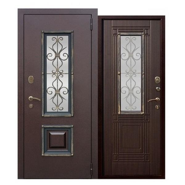 Дверь металлическая входная Венеция Венге 860(960)x2050х75 мм.