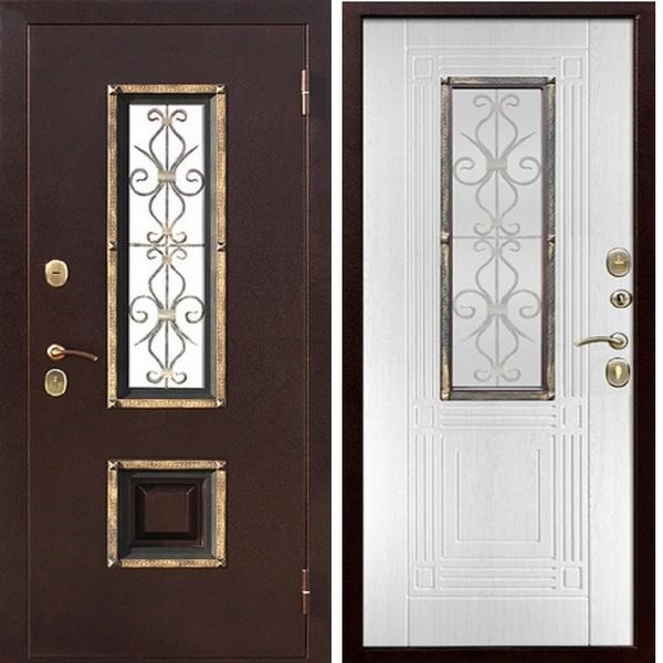 Дверь металлическая входная Венеция Белый ясень 860(960)x2050х75 мм.