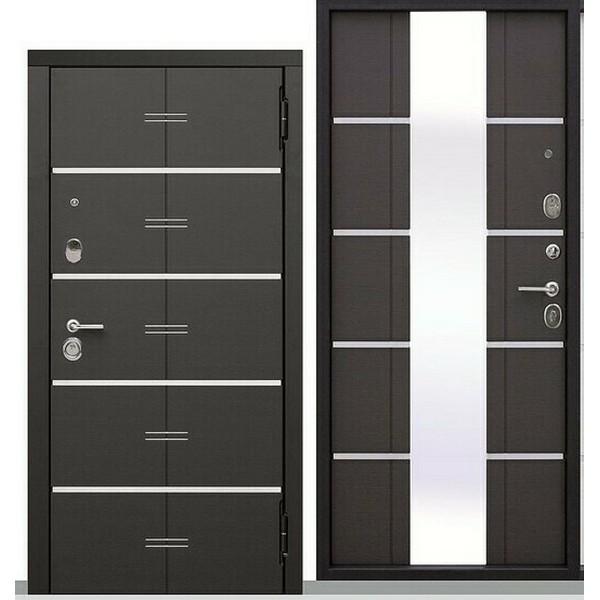 Дверь металлическая входная Vikont Грецкий орех 860(960)x2050х95 мм.