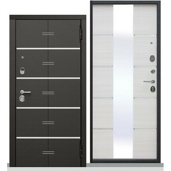 Дверь металлическая входная Vikont Сосна белая 860(960)x2050х95 мм.