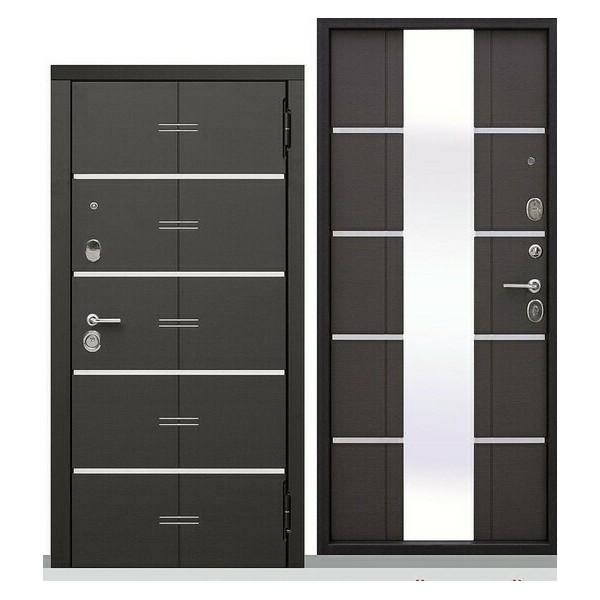 Дверь металлическая входная Европа Венге 860(960)x2050х95 мм.