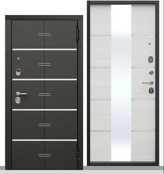 Дверь металлическая входная Европа Белый ясень 860(960)x2050х95 мм.