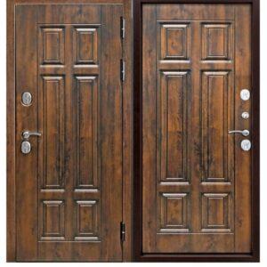 Дверь металлическая входная ISOTERMA мдф/мдф Винорит Грецкий орех 860(960)x2050х130 мм.