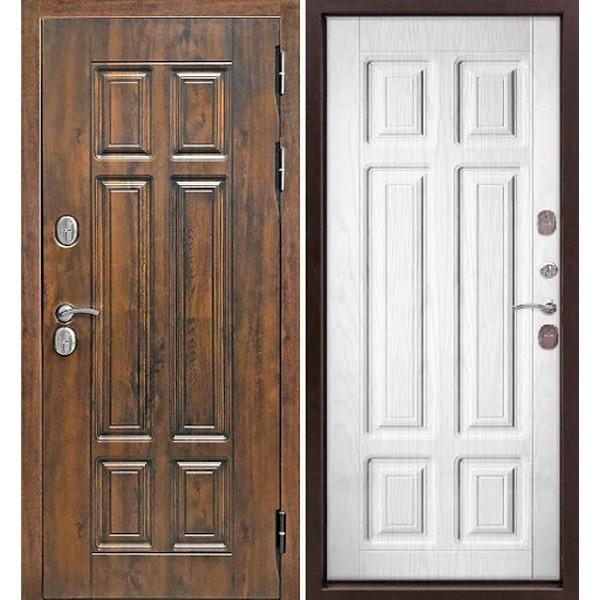 Дверь металлическая входная ISOTERMA мдф/мдф Винорит Сосна белая 860(960)x2050х130 мм.