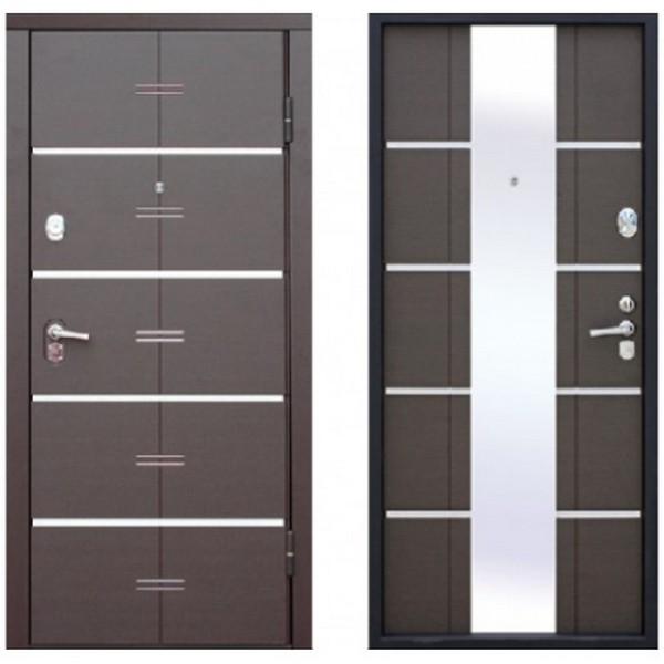 Дверь металлическая входная Alta Tech Венге 880(970)x2040х90 мм.