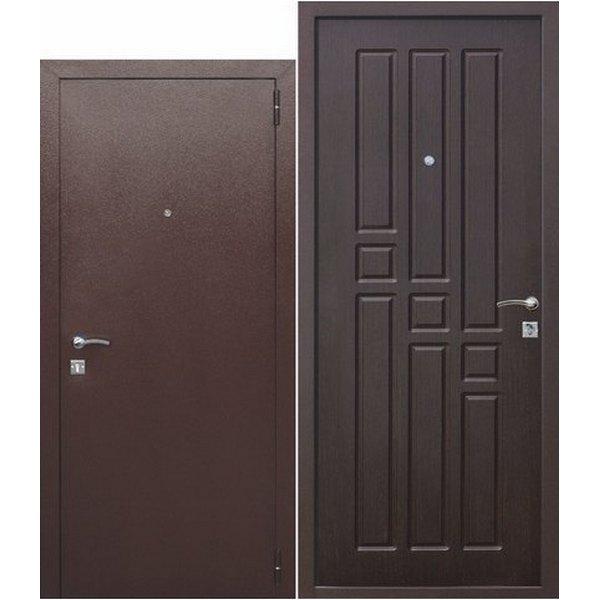 Дверь металлическая входная Гарда mini Венге (ФЕРРОНИ) 860(960)x1800(1900)х60 мм.