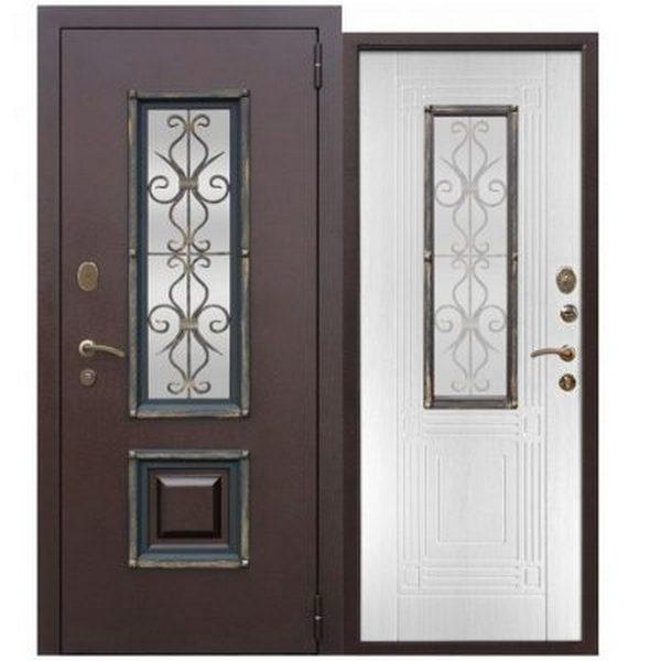 Дверь металлическая входная Белый ясень (ФЕРРОНИ) 1200(1300)x2050х75 мм.