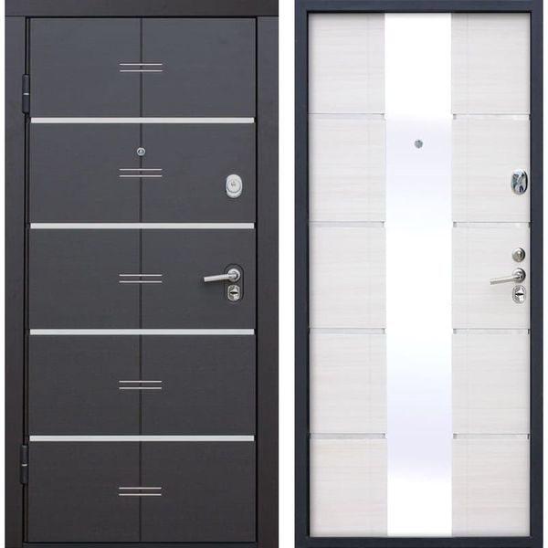 Дверь металлическая входная Белый ясень 880(970)x2040х90 мм.