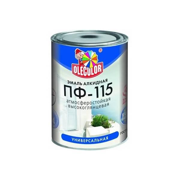 Эмаль ПФ-115 ярко-зеленая 0.8 кг OLECOLOR 1/14 0251 ГОСТ 6465-76