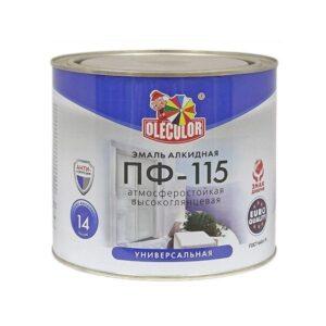 Эмаль ПФ-115 белая 1.9 кг OLECOLOR 1/6 0159 ГОСТ 6465-76