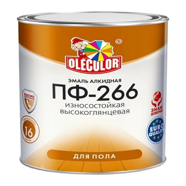 Эмаль ПФ-266 красно-коричневая 2.7 кг OLECOLOR 1/6 0274