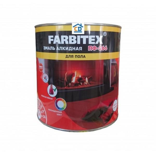 Эмаль ПФ-266 желто-коричневая 0.9 кг FARBITEX 1/14 1614 #