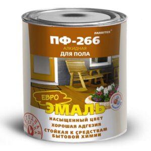 Эмаль ПФ-266 желто-коричневая алкидная 5.0 кг FARBITEX 1/4 1617