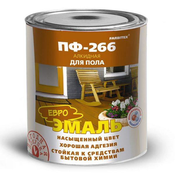 Эмаль ПФ-266 золотистая 5.0 кг FARBITEX 1/4 1622