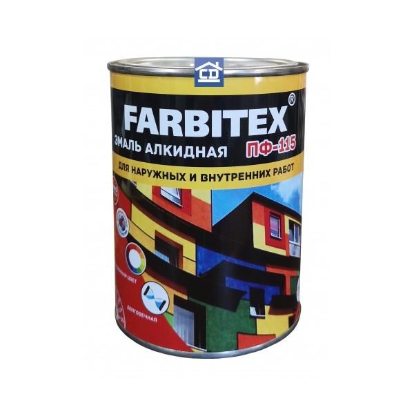 Эмаль ПФ-115 белая алкидная 2.7 кг FARBITEX 1/6 1581